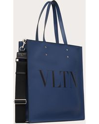 Valentino Garavani Bolso Shopper Vltn De Piel - Azul