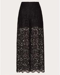 Valentino Pantalon En Guipure - Noir
