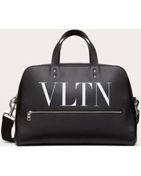 Valentino Garavani Vltn Leather Bowling Bag - Black