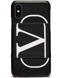 Valentino Garavani Smartphone-cover Vlogo - Schwarz