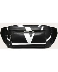 Valentino Garavani Men's Vl Logo Leather Belt Bag - Black