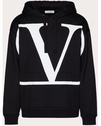 Valentino Valentino Vロゴ シグネチャー フーディドスウェットシャツ - ブラック