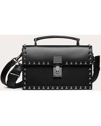 Valentino Garavani Rockstud Leather Crossbody Bag - Black