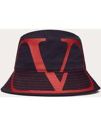 Valentino Garavani Bucket Hat Vlogo Signature - Blau