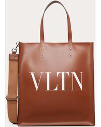Valentino Garavani - Vltn レザー ショッピングバッグ - Lyst