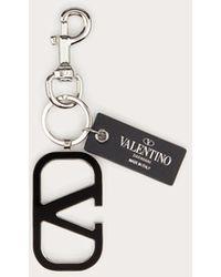 Valentino Garavani Vlogo Signature Keychain - Black