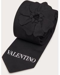 Valentino Garavani Valentino garavani cravatta men's garden nero poliestere 100% onesize