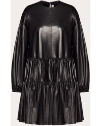 Valentino Leather Dress - Black