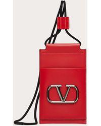 Valentino Garavani - Valentino Garavani Vロゴ シグネチャー ネックストラップ付きスマートフォンケース - Lyst