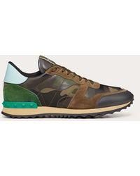 Valentino Garavani Valentino Garavani Rockrunner Camouflage Sneakers - Green