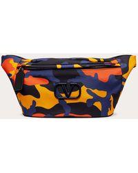 Valentino Garavani Camouflage Nylon Belt Bag - Blue