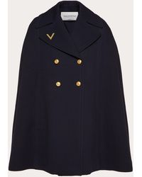 Valentino Cape Aus Double Worsted Wool - Blau