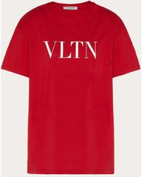 Valentino Vltn Print T-shirt - Red