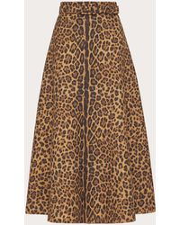 Valentino Printed Crepe Couture Skirt - Multicolour