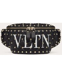 Valentino Vltn Rockstud Spike.it Belt Bag - Black