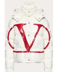 Valentino - Moncler Vlogo Lacquered Nylon Padded Jacket - Lyst