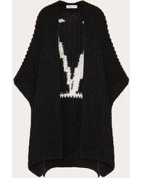Valentino Vlogo Wool Cardigan - Black