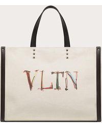 Valentino Garavani - Valentino Garavani Vltnグラフ キャンバス ミディアム トートバッグ - Lyst