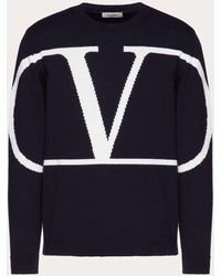 Valentino Vlogo Signature Crew-neck Jumper - Blue