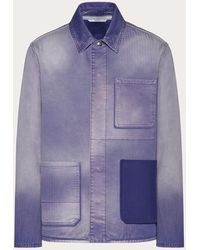 Valentino - Valentino Shaded Purple Denim Jacket - Lyst