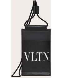 Valentino Garavani Valentino Garavani Vltn Phone Case With Neck Strap - Black
