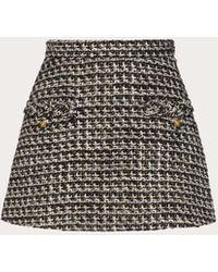 Valentino Minirock aus sensation lurex tweed - Mehrfarbig