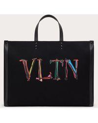 Valentino Garavani - Valentino Garavani Vltnグラフ キャンバス ラージ トートバッグ - Lyst