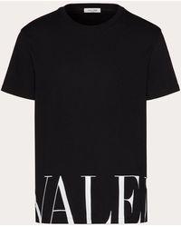 Valentino T-shirt Mit Valentino Print - Schwarz