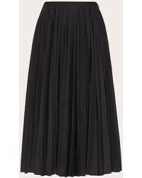 Valentino Micro Faille Skirt - Black