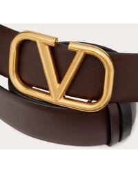 Valentino Garavani Valentino Garavani カーフスキン Vlogo Signature ベルト - マルチカラー