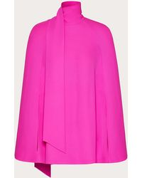 Valentino Cady Couture Cape Top - Pink