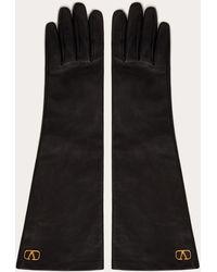 Valentino Garavani Valentino Garavani Vlogo Signature Gloves - Black