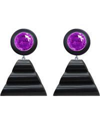 Rarities | Judith Hendler Black Lucite Earrings | Lyst