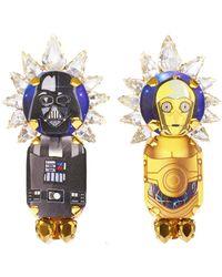 Bijoux De Famille - Dark Vador & C3po Earrings - Lyst