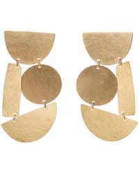 Annie Costello Brown | Masha Earrings Gold | Lyst