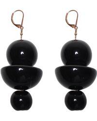 Marion Vidal | Black Trio Earrings | Lyst