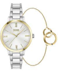 BOSS by HUGO BOSS Horloge-set - Metallic