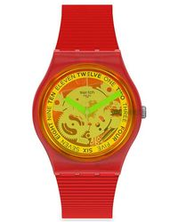 Swatch Unisex Horloge - Rood