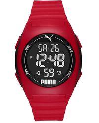 PUMA Unisex Horloge - Rood