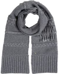 UGG Cable Knit Fringe Scarf - Gray