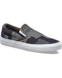 691a253cd6 Lyst - Vans The Women s Classic Slip-on In Patchwork Denim in Blue