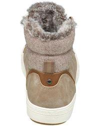 Bench Beige Hoge Sneaker Warm Gevoerd - Naturel