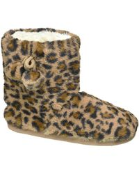 Casa mia E Pantoffel Leopard - Bruin