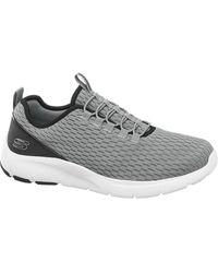 Skechers - Grijze Sneaker Elastische Vetersluiting - Lyst