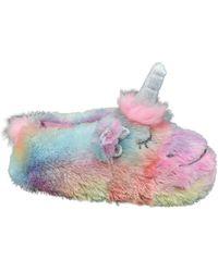 Casa mia Multicolor Pantoffel Eenhoorn - Meerkleurig
