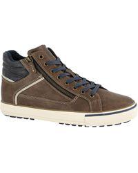 Memphis One E Halfhoge Sneaker - Bruin