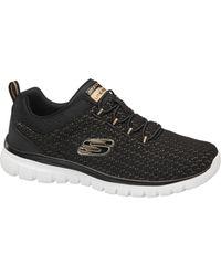Skechers Zwarte Sneaker Memory Foam - Metallic