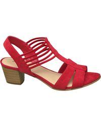 graceland Rode Sandaal Elastiek - Rood