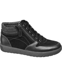 Medicus Zwarte Leren Sneaker Rits
