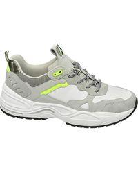 graceland Te Chunky Sneaker Beige Detail - Wit